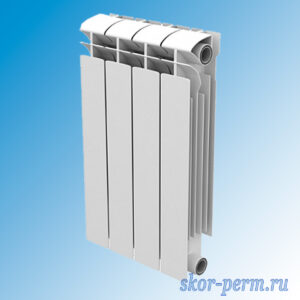 Радиатор биметаллический STI 100/500 МАХI (5 секций, 840 Вт)