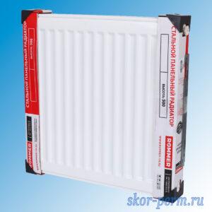 Радиатор стальной ROMMER Compact C22х500х500 (1163 Вт)
