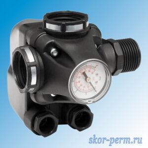 Реле давления UNIPUMP РМ/5-3W с манометром 1″х1″х1″