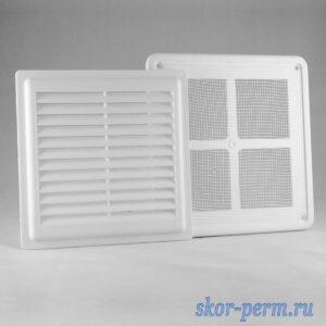 Решетка вентиляционная 175х175 разъемная, с москитной сеткой