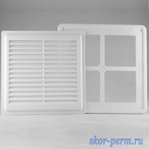 Решетка вентиляционная ARTPLAST 200х200 разъемная с москитной сеткой