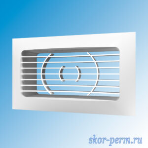 Решетка вентиляционная 150х90 с фланцем 120х60, без сетки