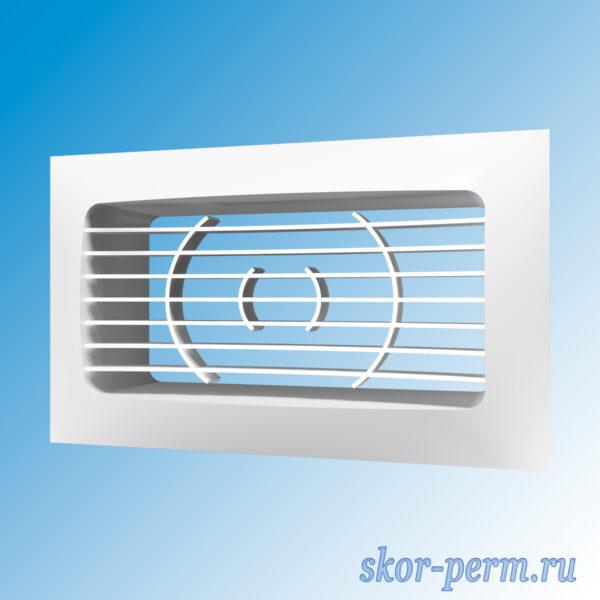 Решетка вентиляционная 150х90 с фланцем 120х60 без сетки