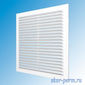 Решетка вентиляционная 138х138 без рамки, с москитной сеткой