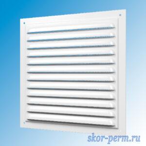 Решетка вентиляционная 150х150 металлическая без рамки, с москитной сеткой
