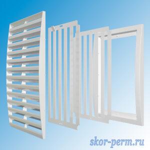 Решетка вентиляционная 200х200 разъемная, регулируемые жалюзи, без сетки