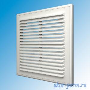 Решетка вентиляционная 170х170 разъемная, с москитной сеткой