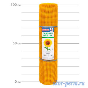 Сетка пластиковая 15х15, 1,0х20 (20 м2) желтая