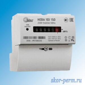 Счетчик электрический НЕВА 103 (5-60А) 220В на рейке