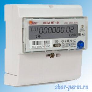 Счетчик электрический НЕВА МТ 124 двухтарифный 220В