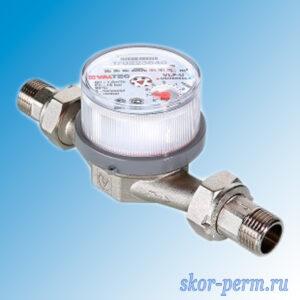 Счетчик воды 15 VALTEC CBУ-15 универсальный, с обратным клапаном, (L=110 мм)