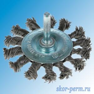 Щетка металлическая для дрели 65 плоская крученая проволока