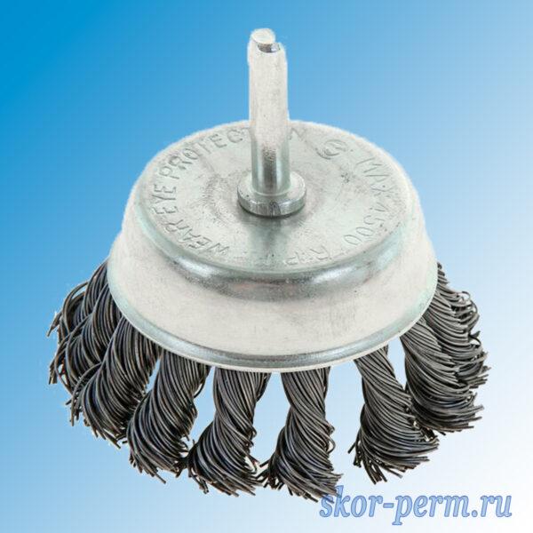 Щетка металлическая для дрели чашка крученая проволока
