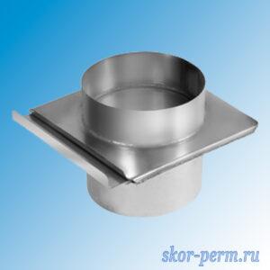 Шибер Д=100 мм (оцинк. сталь)