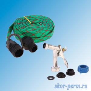 Шланг поливочный резиновый текстильная оплетка + распылитель
