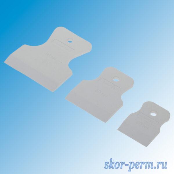 Шпатели резиновые СИБРТЕХ 40-60-80 мм набор