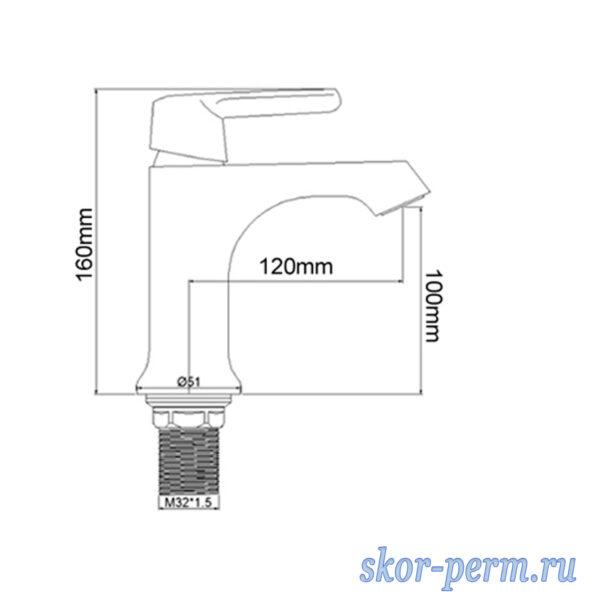 Смеситель FRAP F1031 (F1032, F1033) для раковины