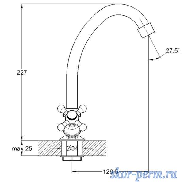 Смеситель G-LAUF JML4-A605 для кухни