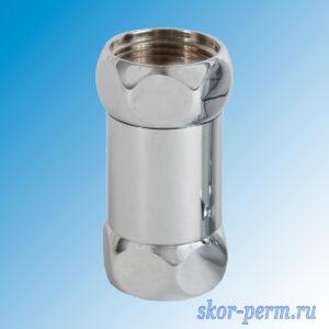 Соединение прямое G3/4″-3/4″ ВР-ВР для полотенцесушителя