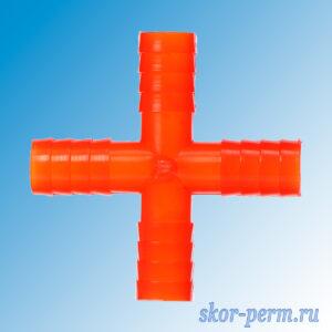 Крест штуцер 20-20-20-20 (сад 4)