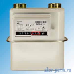 Счетчик газа ВК G4Т (левый правый) с термокорректором