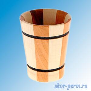 Стакан деревянный