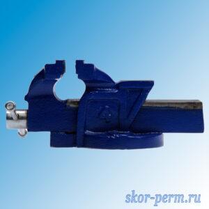 Тиски слесарные 100 мм с наковальней, высокопрочный чугун ВЧ-40