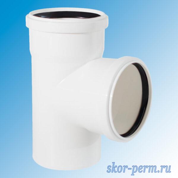 Тройник канализационный полипропиленовый 110х110/87° бесшумный