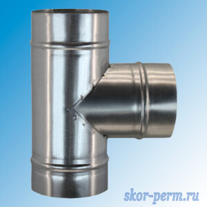 Тройник Д=100 мм (оцинк. сталь)