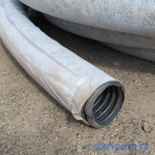 Труба дренажная с геотекстилем