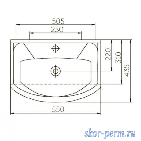 Умывальник ROSA Элеганс-550