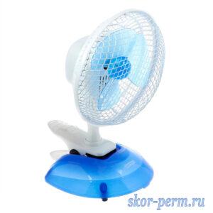 Вентилятор настольный 20 Вт, 2 режима, прищепка, подставка