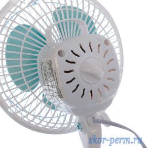 Вентилятор настольный 15 Вт, 2 режима, прищепка