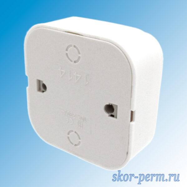 Выключатель 2ОП с подсветкой IONICH белый