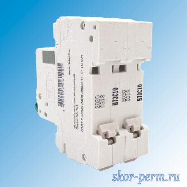 Выключатель автоматический ВА-101-2Р С10А
