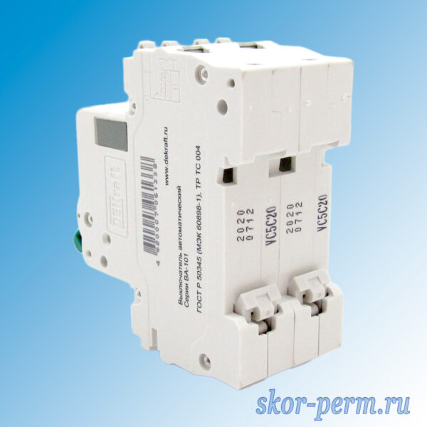 Выключатель автоматический ВА-101-2Р С20А