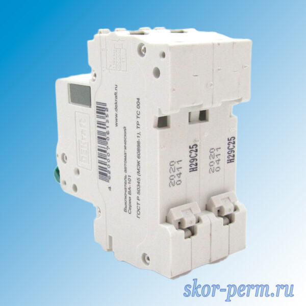 Выключатель автоматический ВА-101-2Р С25А
