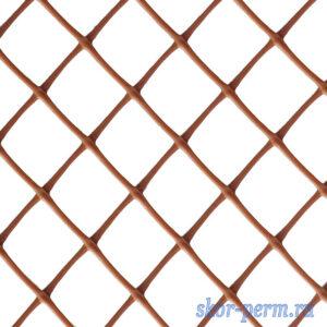 Сетка пластиковая 40х40, 1,5х10 (15 м2) коричневая