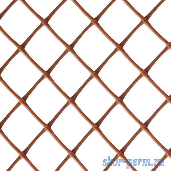 Сетка заборная пластиковая 40х40 коричневый
